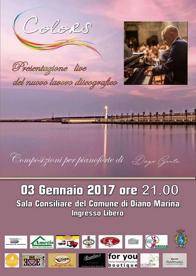 Sarà un concerto in anteprima che precederà altri due appuntamenti nel mese di gennaio per il pianista e compositore ligure Diego Genta quello di martedì 3 gennaio alle 21.00 presso…