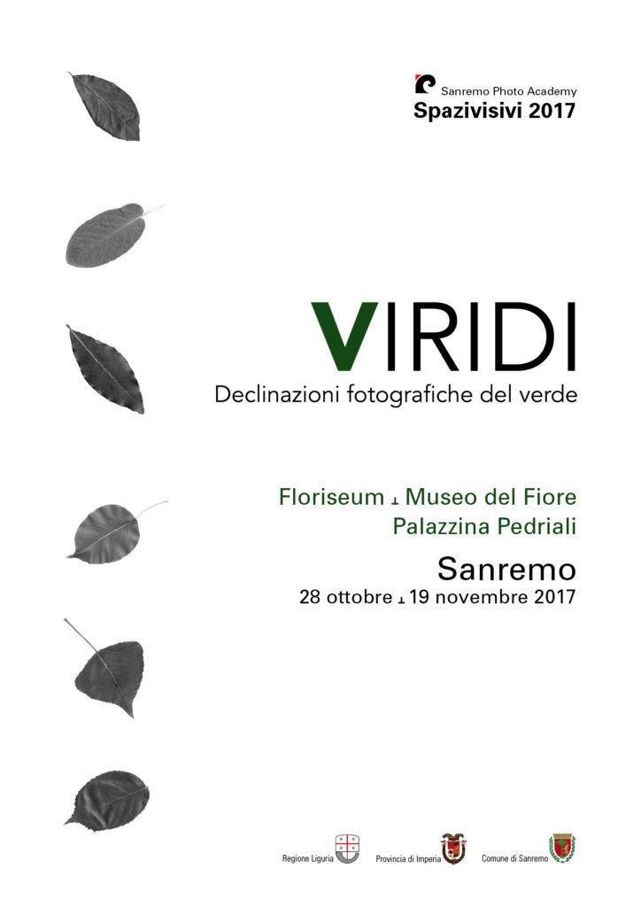 """dal 28 ottobre al 19 novembre """"Viridi"""" indaga il verde con la fotografia: la mostra al Museo del Fiore di Sanremo in collaborazione con Sanremo Photo Academy"""