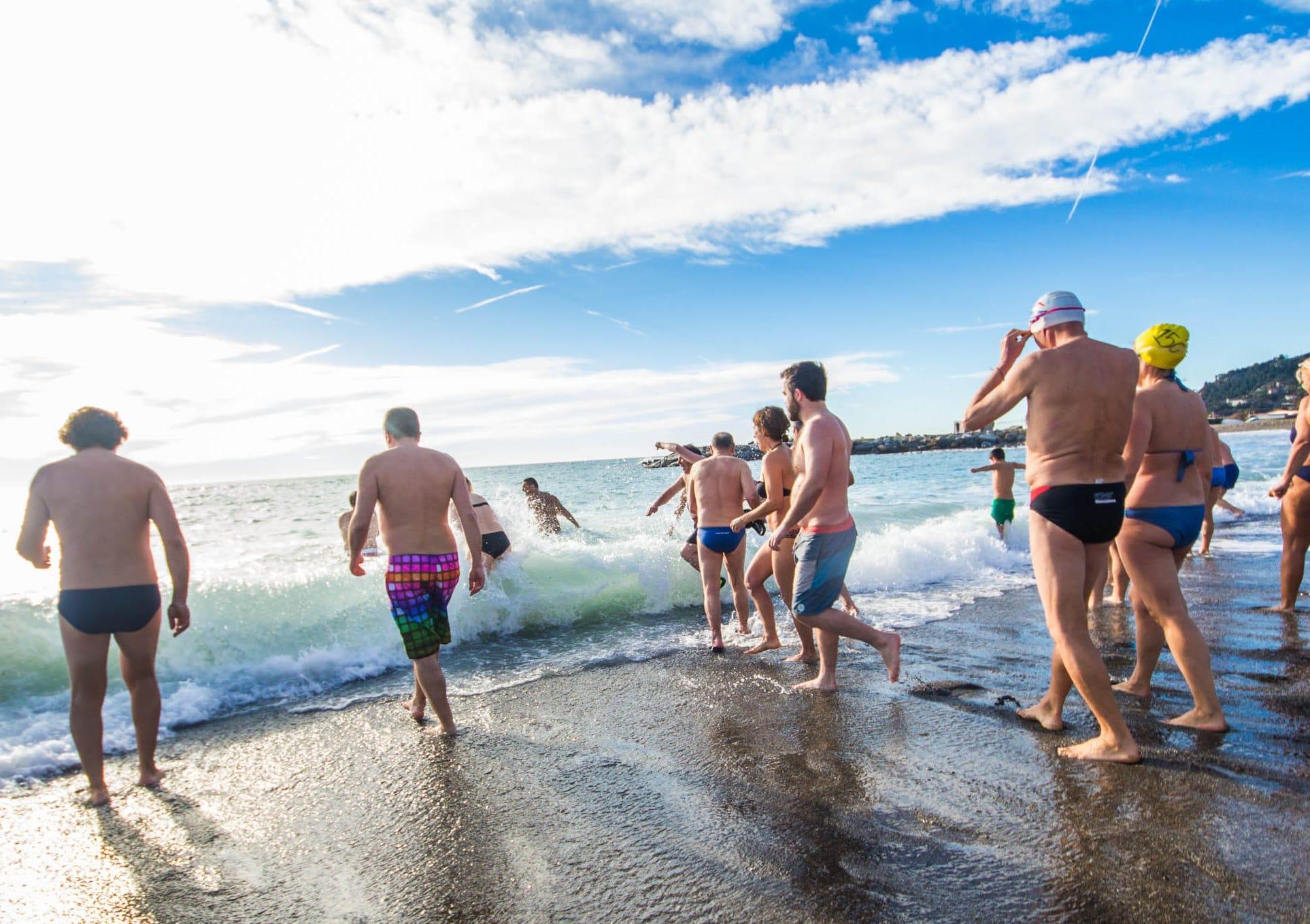 La tradizione ligure del cimento invernale in mare