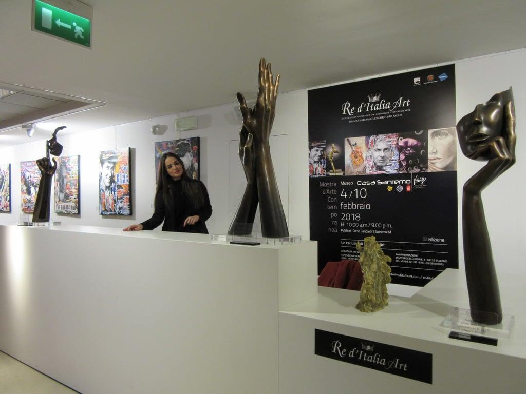 A Casa Sanremo 2018 in mostra Re d'Italia Art, che promuove l'arte Made in Italy nel mondo