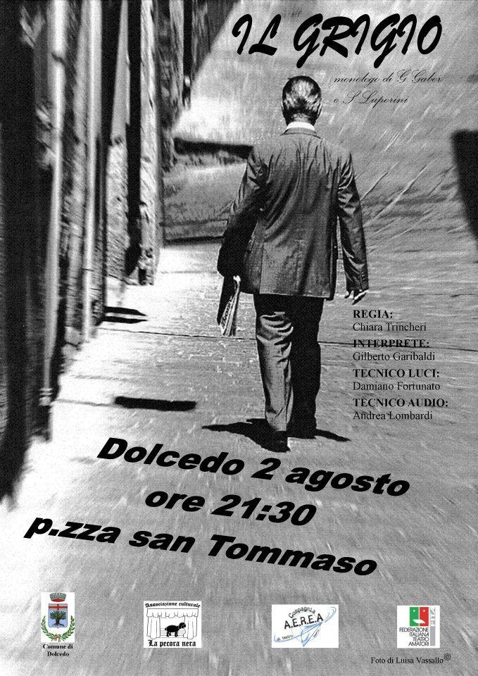 """In scena """"Il Grigio"""", brillante testo teatrale di Giorgio Gaber e Sandro Luporini"""