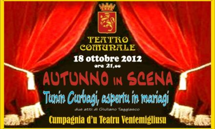 """Ventimiglia: Giovedì 18 Ottobre teatro dialettale in """"scena"""""""