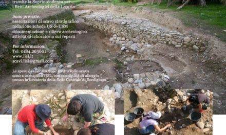 Ventimiglia: scavi archeologici presso le mura settentrionali