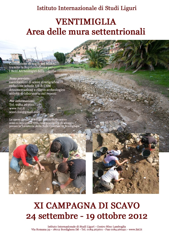 La campagna di scavo, undicesima edizione, si svolgerà dal 24 Settembre al 19 Ottobre.