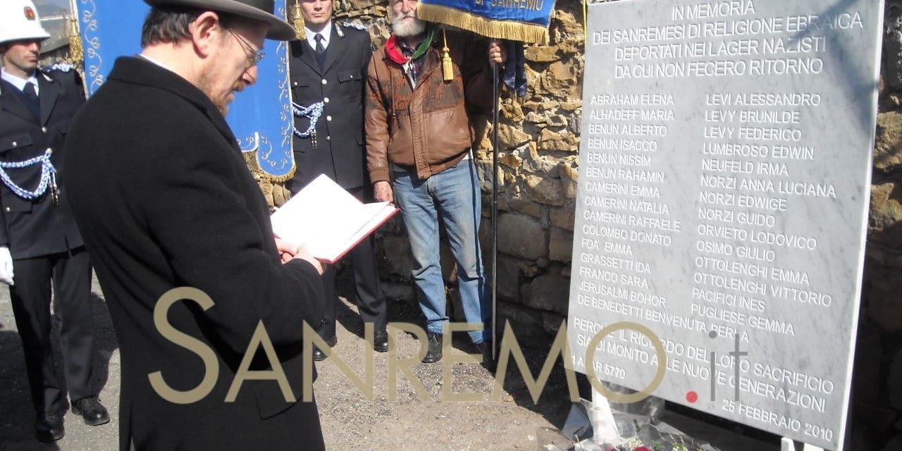 """Sanremo: iniziative ed eventi per la Giornata della """"memoria"""""""