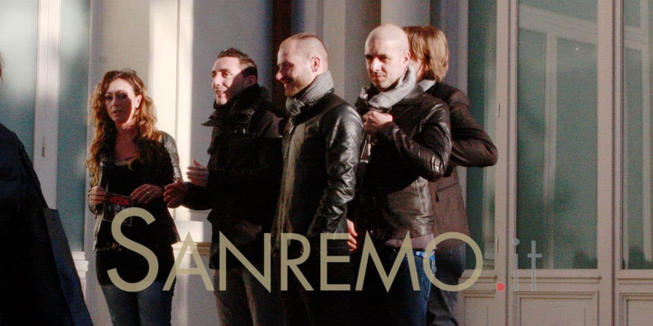 I Modà al Casinò di Sanremo aprono la Vita in diretta