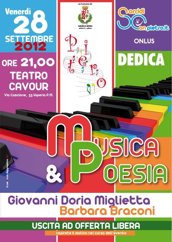Venerdì 28 settembre la serata benefica promossa dalla Onlus Sorridi con Pietro