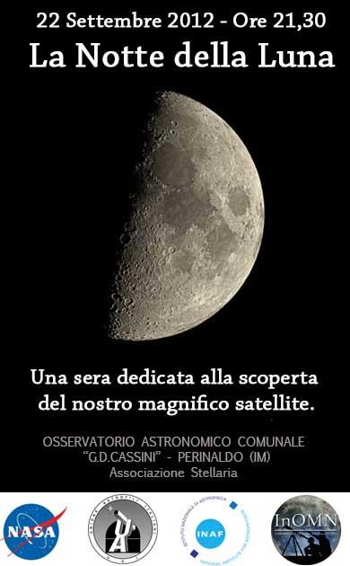 Sabato 22 settembre l'osservatorio Cassini apre le porte in occasione della serata mondiale della luna