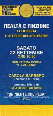 Sabato 22 settembre alle 16.30 la presentazione a cura dell'Associazione Culturale Michele De Tommaso