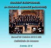 Samedi 20 octobre, sous le Haut Patronage de S.A.S le Prince Albert II de Monaco, la Chorale Alliance – Mulhouse donera un Concert Caritatif à la Cathédrale de Monaco. Billet…