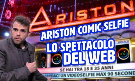 Ariston Comic Selfie: a Sanremo il contest divertente per arrivare sul palco dell'Ariston