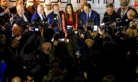 Elisabetta Gregoraci inaugura Casa Sanremo