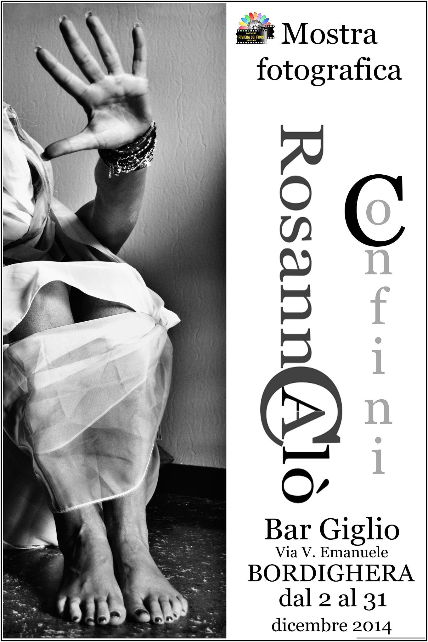 """Da 2 dicembre è visitabile a Bordighera presso il Bar Giglio la mostra fotografica dal titolo """"Confini"""" di Rosanna Calò. Calò inizia il suo percorso artistico con il Fotoclub Riviera…"""