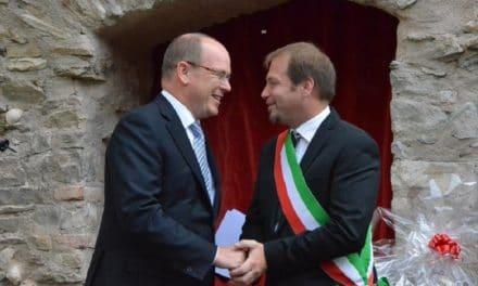 Dolceacqua inaugura la pista ciclabile con il Principe Alberto di Monaco