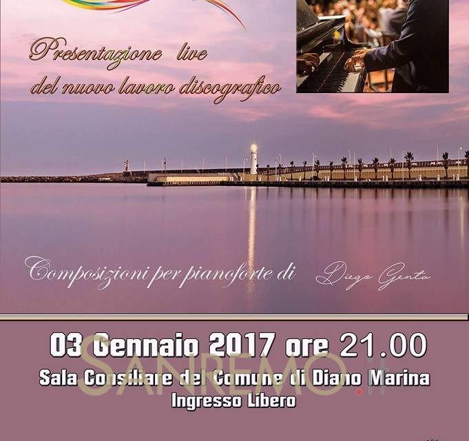 """""""Colors"""": il nuovo progetto in musica di Diego Genta il 3 gennaio a Diano Marina"""