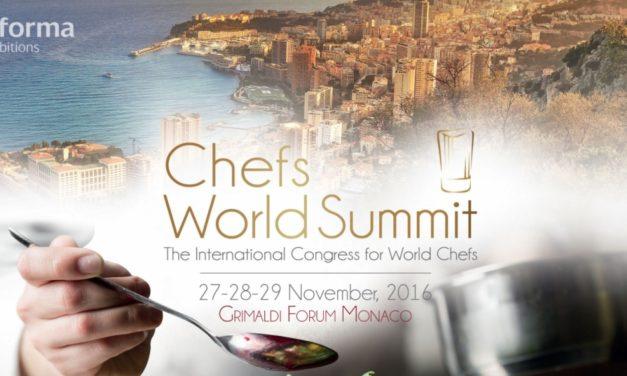 Chef world summit in arrivo al Grimaldi Forum