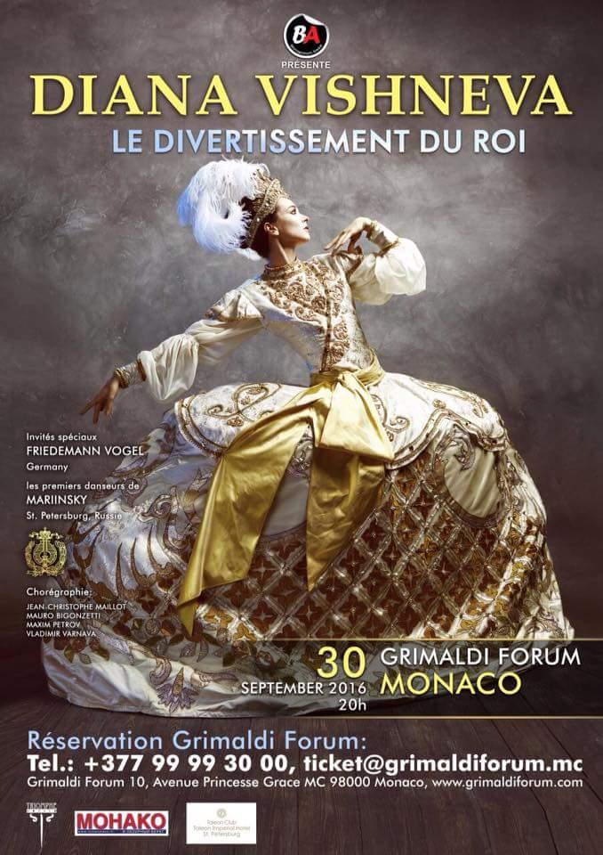 """Venerdì 30 settembre alle 20.00 il Grimaldi Forum di Montecarlo ospiterà una prima eccezionale con """"Le Divertissement du Roi"""", balletto-spettacolo della regina del balletto russo moderno, Diana Vishneva, per la…"""