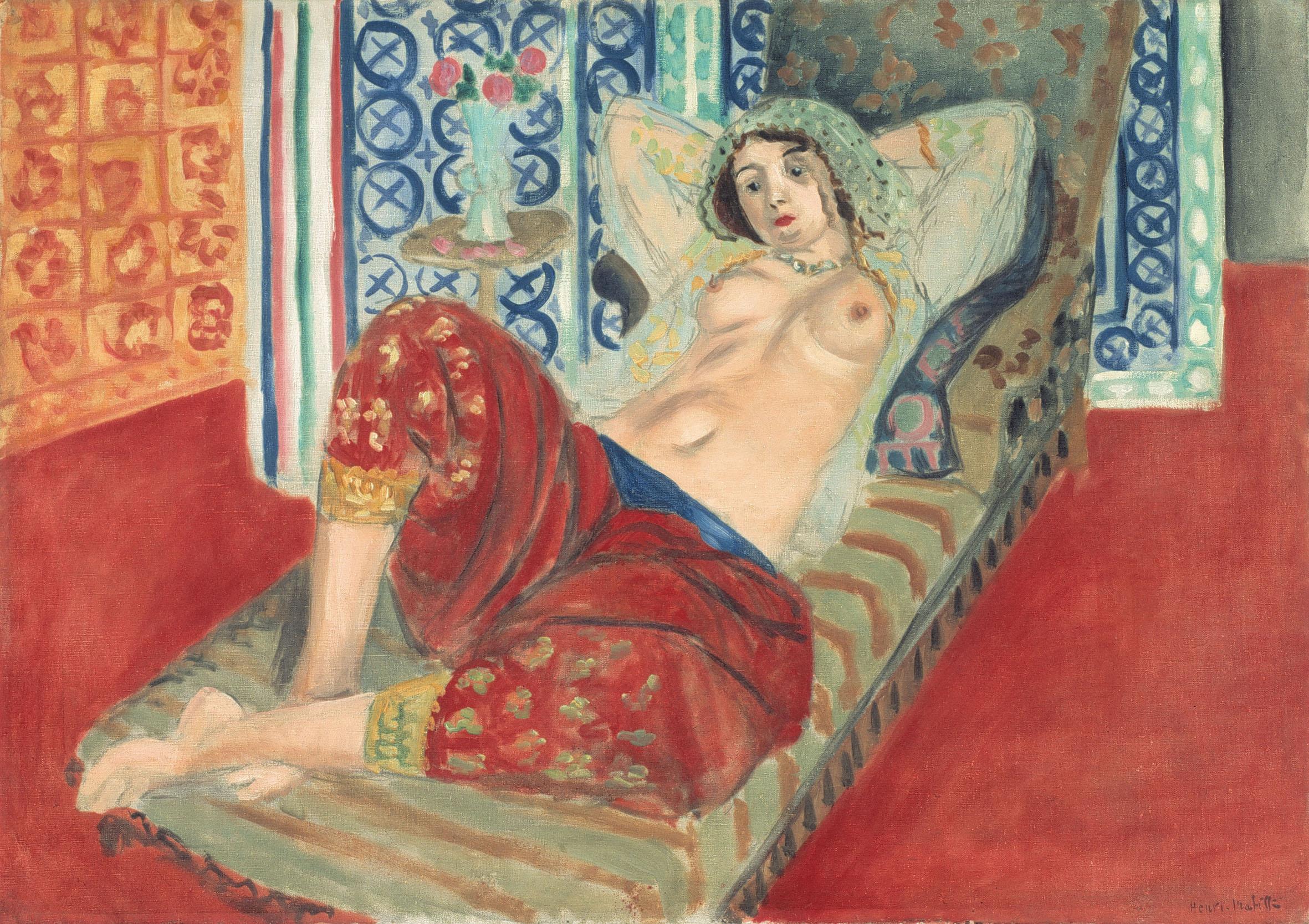 Fino al 29 settembre l'esposizione di opere di odalische di Matisse a Nizza nel museo dedicato all'artista.