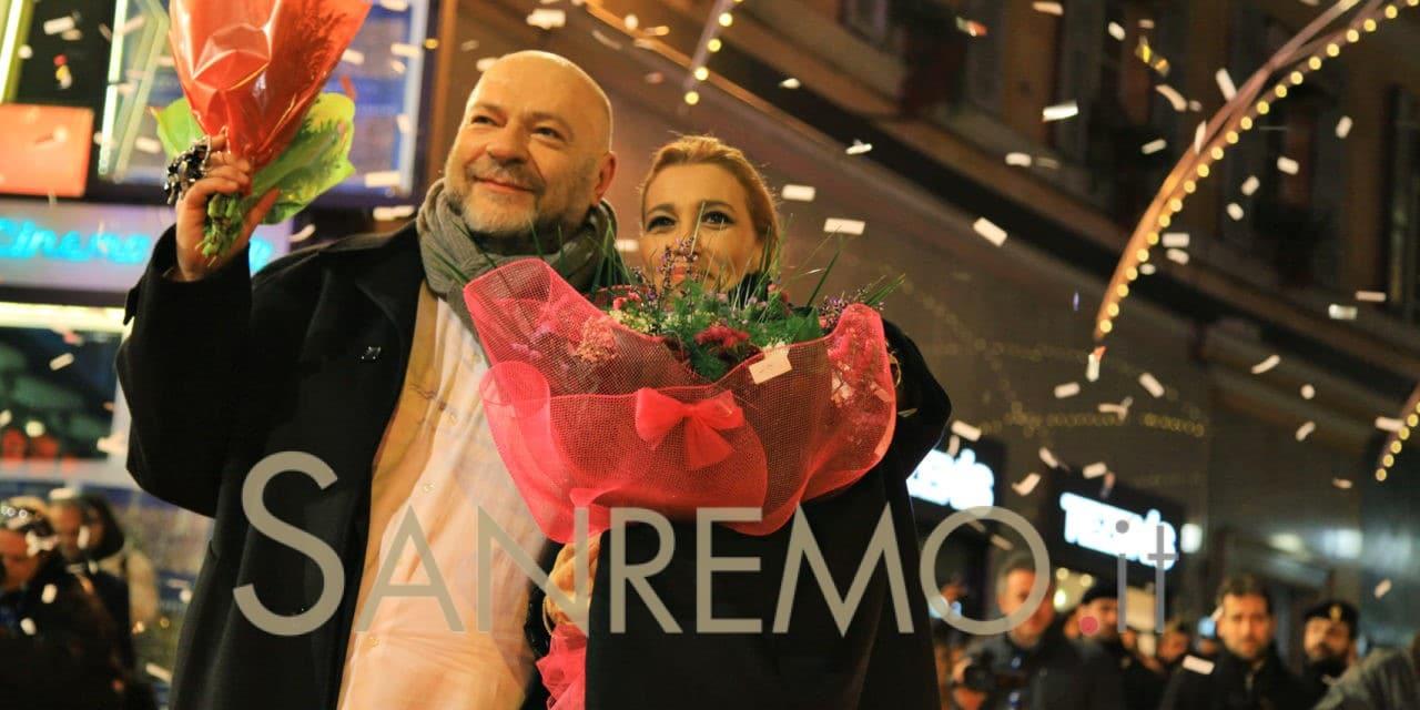 Grazia di Michele e Mauro Coruzzi a Sanremo