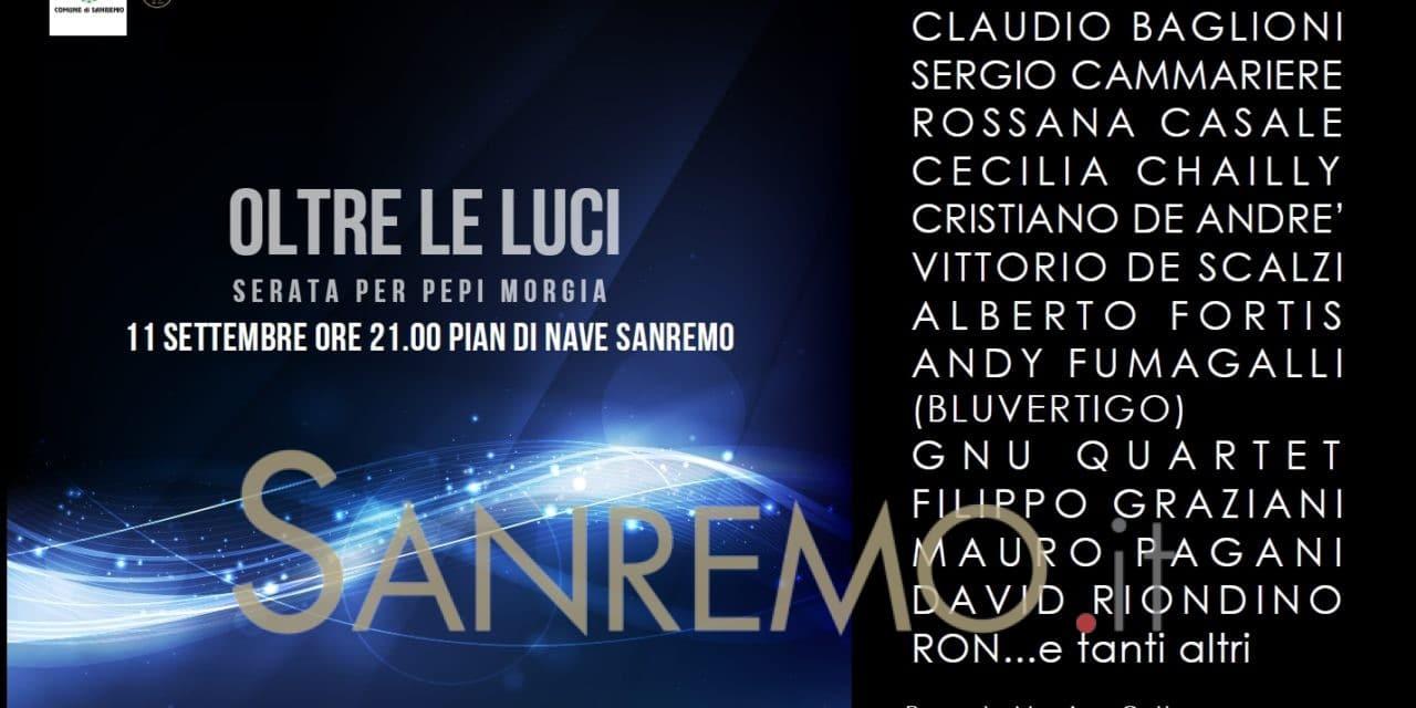 """""""Oltre le luci"""": il concertone per Pepi Morgia a Sanremo"""
