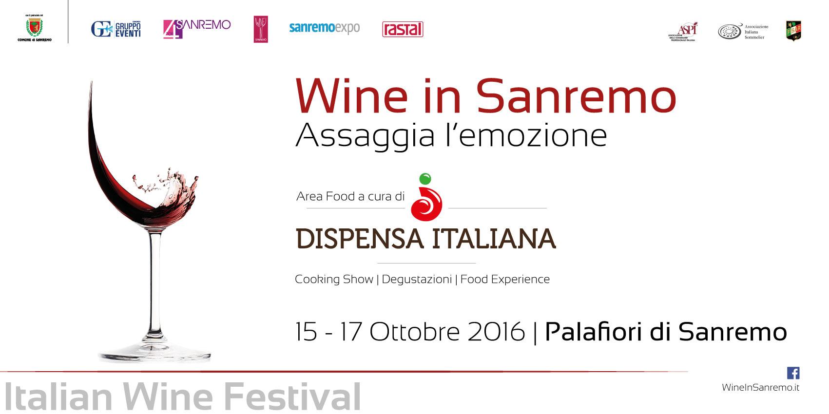 Da sabato 15 a lunedì 17 ottobre torna Wine in Sanremo, seconda edizione dell'evento che seleziona e raduna al Palafiori le migliori aziende vinicole italiane. La manifestazione è rivolta a…