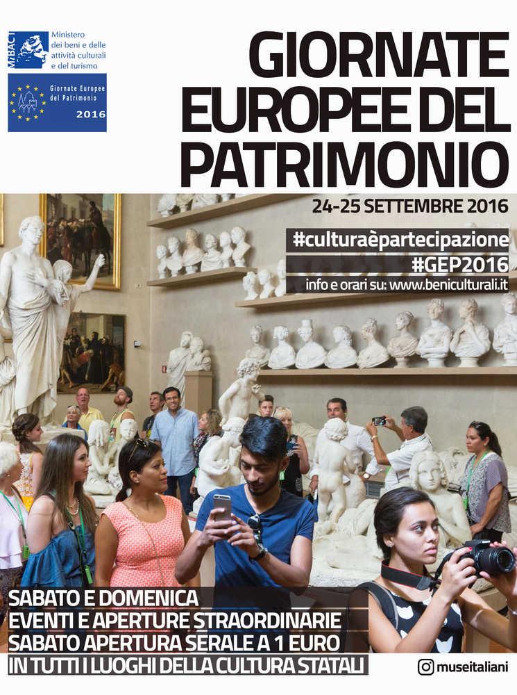 Sabato 24 e domenica 25 settembre le Giornate Europee del Patrimonio, iniziativa del Ministero dei beni e delle attività culturali e del turismo, tornano a far scoprire al grande pubblico…
