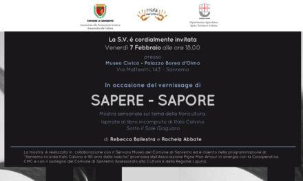 Sapere-Sapore, una mostra sensoriale sulla floricoltura al museo civico di Sanremo