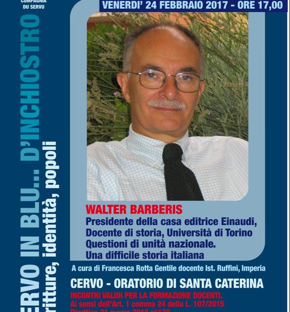 """Walter Barberis in arrivo a """"Cervo in blu…d'inchiostro"""""""