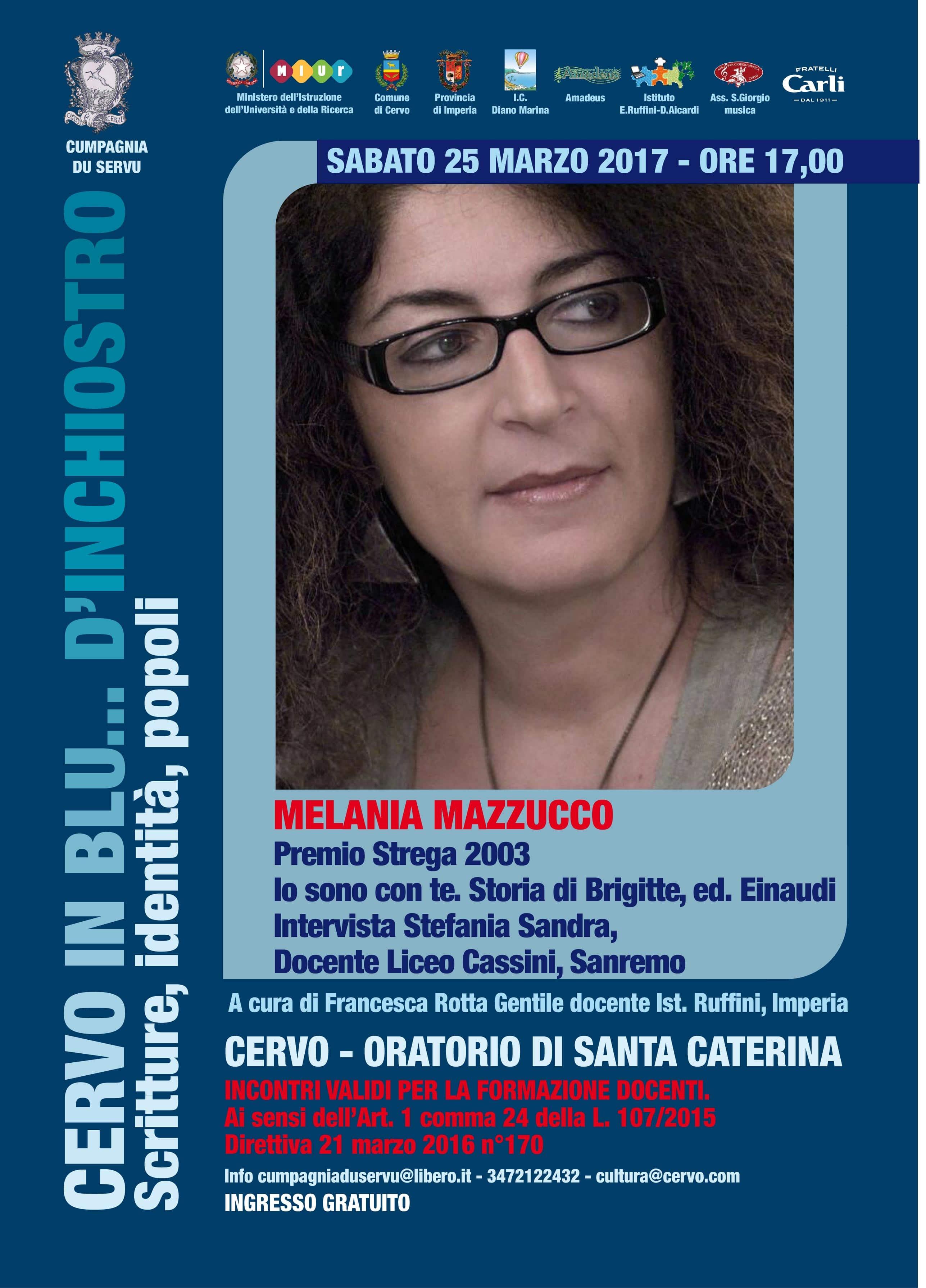 """La scrittirce farà tappa all'Oratorio di Santa Caterina il 25 marzo per """"Cervo in blu...d'inchiostro"""""""