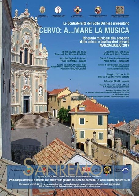 """""""A…Mare la musica"""": l'itinerario musicale alla scoperta delle bellezze di Cervo"""