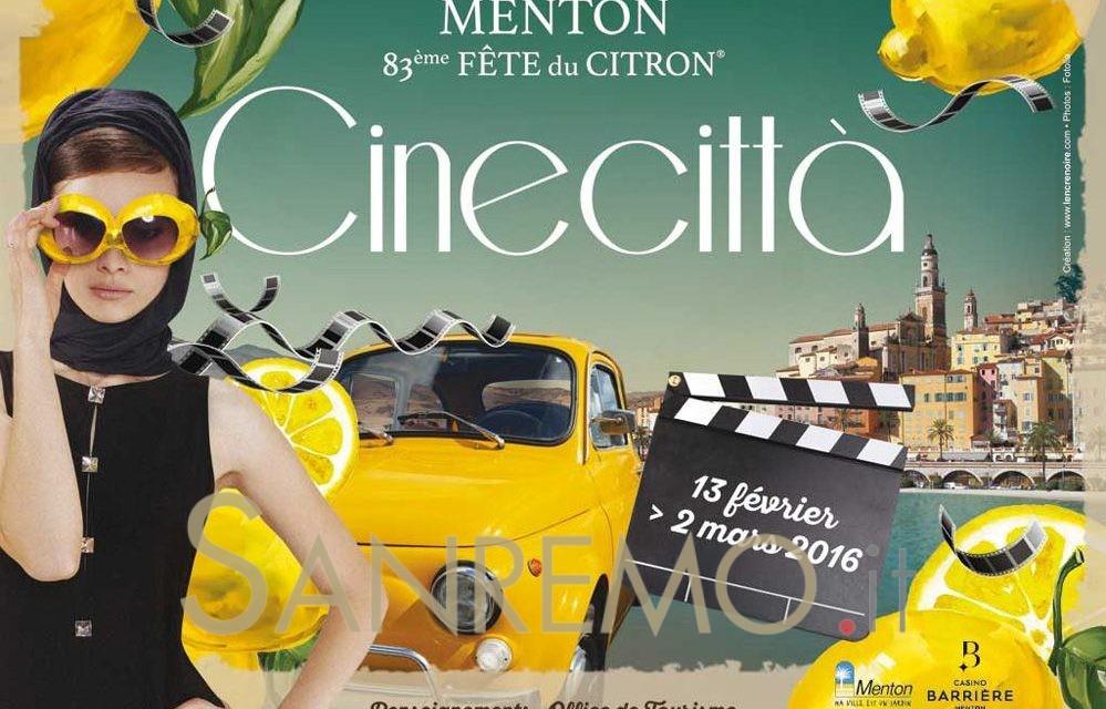 """La Fete du Citron 2016 per """"Cinecittà"""""""