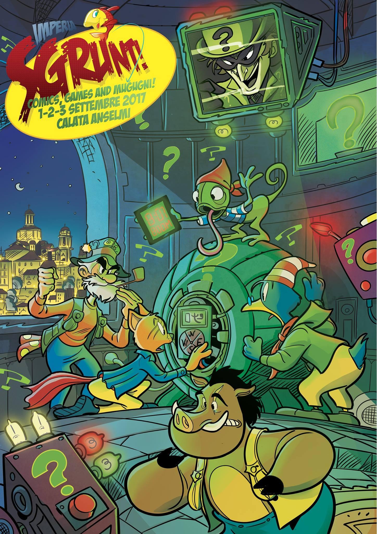 Comics, games and mugugni in Calata Anselmi a Porto Maurizio