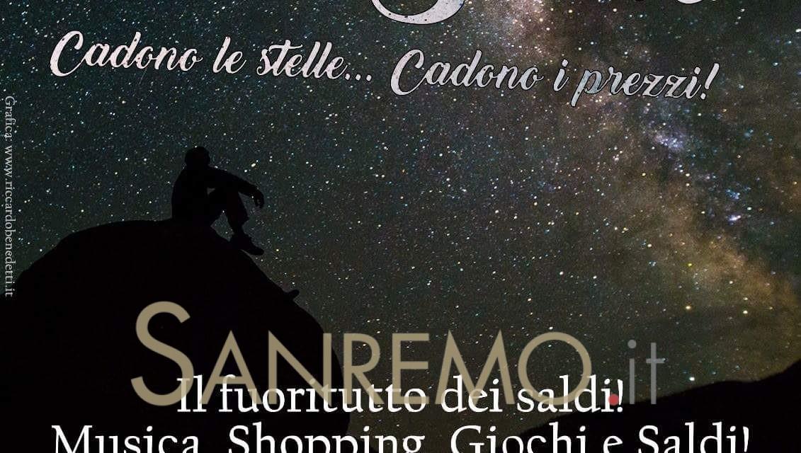 Notte di saldi e stelle a Imperia il 10 agosto