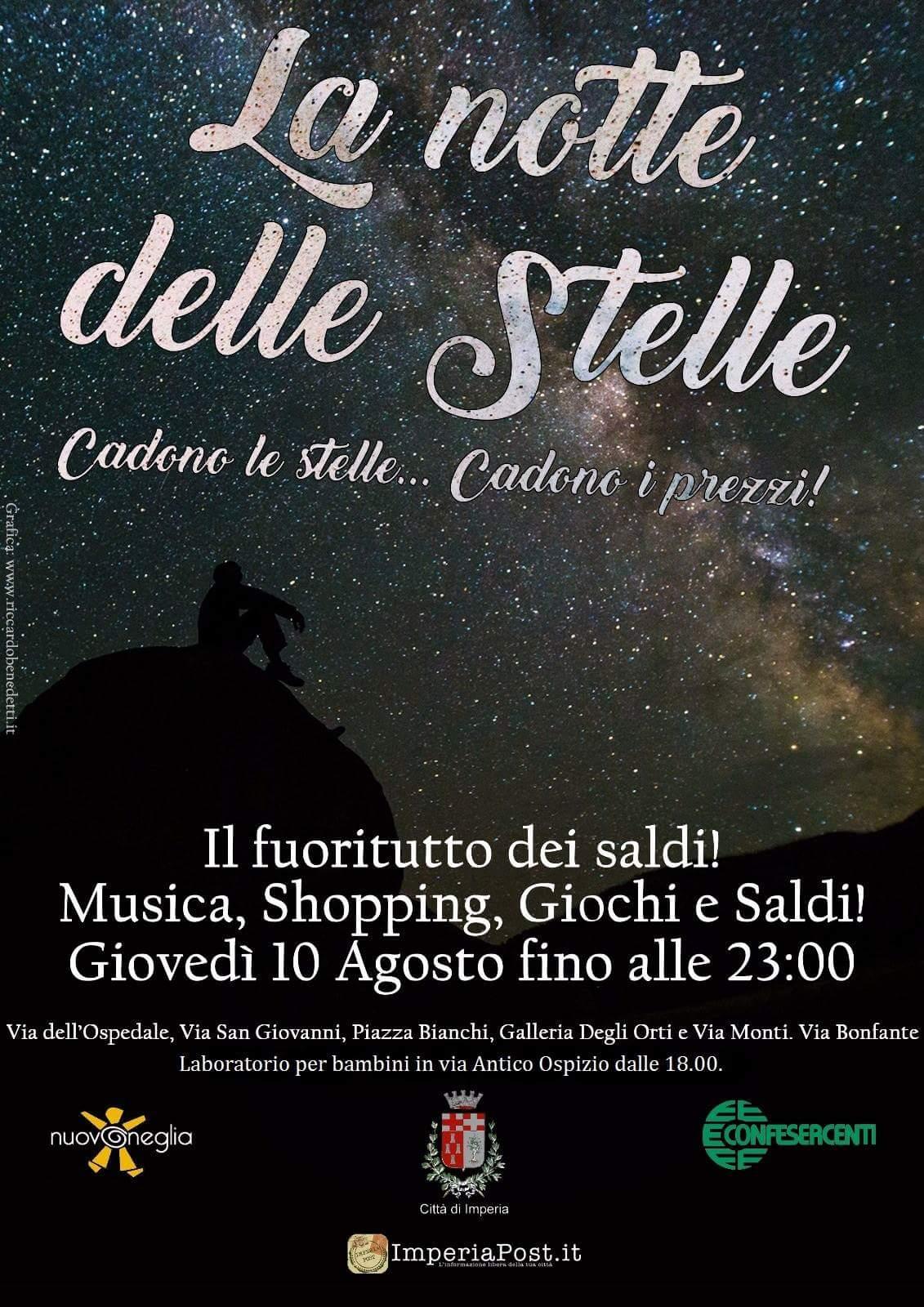 """Shopping, musica e atmosfera di festa per """"La notte delle stelle"""""""