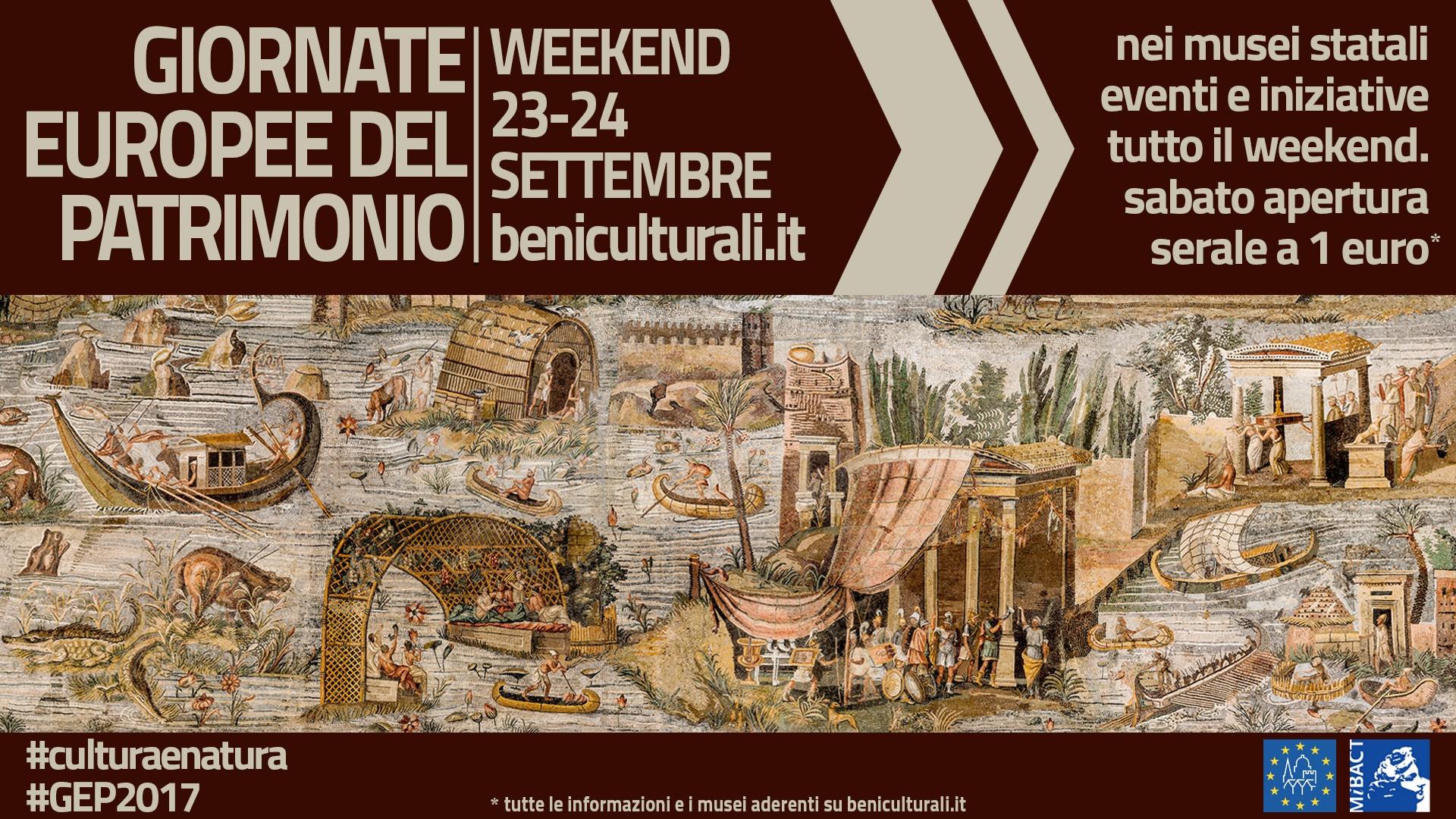 Sabato 23 e domenica 24 settembre appuntamenti speciali con tanti luoghi d'arte e cultura per l'iniziativa europea
