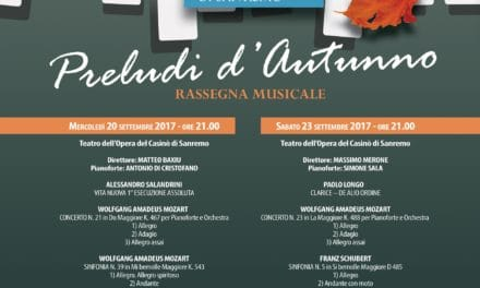 Preludi d'autunno con l'Orchestra Sinfonica di Sanremo
