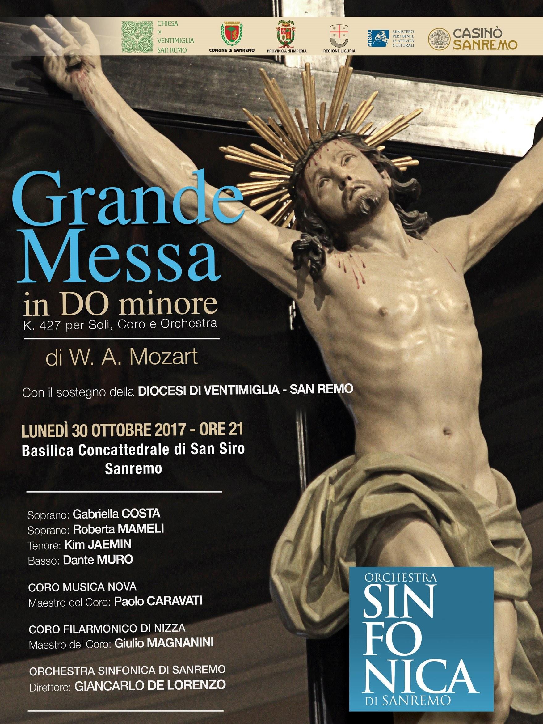 Gli appuntamenti di fine ottobre con la grande musica di Mozart e l'orchestra Sinfonica di Sanremo