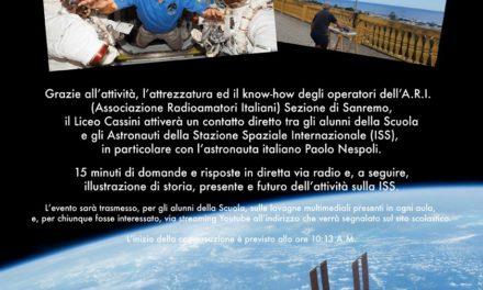 Il Liceo Cassini a dialogo con Paolo Nespoli dallo spazio