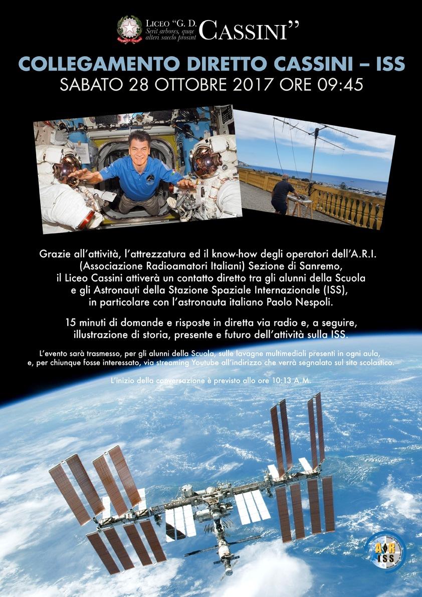 Sabato 28 ottobre in diretta il collegamento con Paolo Nespoli dalla Stazione Spaziale Internazionale