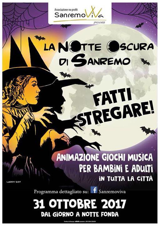 """Sanremo si prepara a vivere """"La notte oscura"""" del 31 ottobre per festeggiare Halloween"""