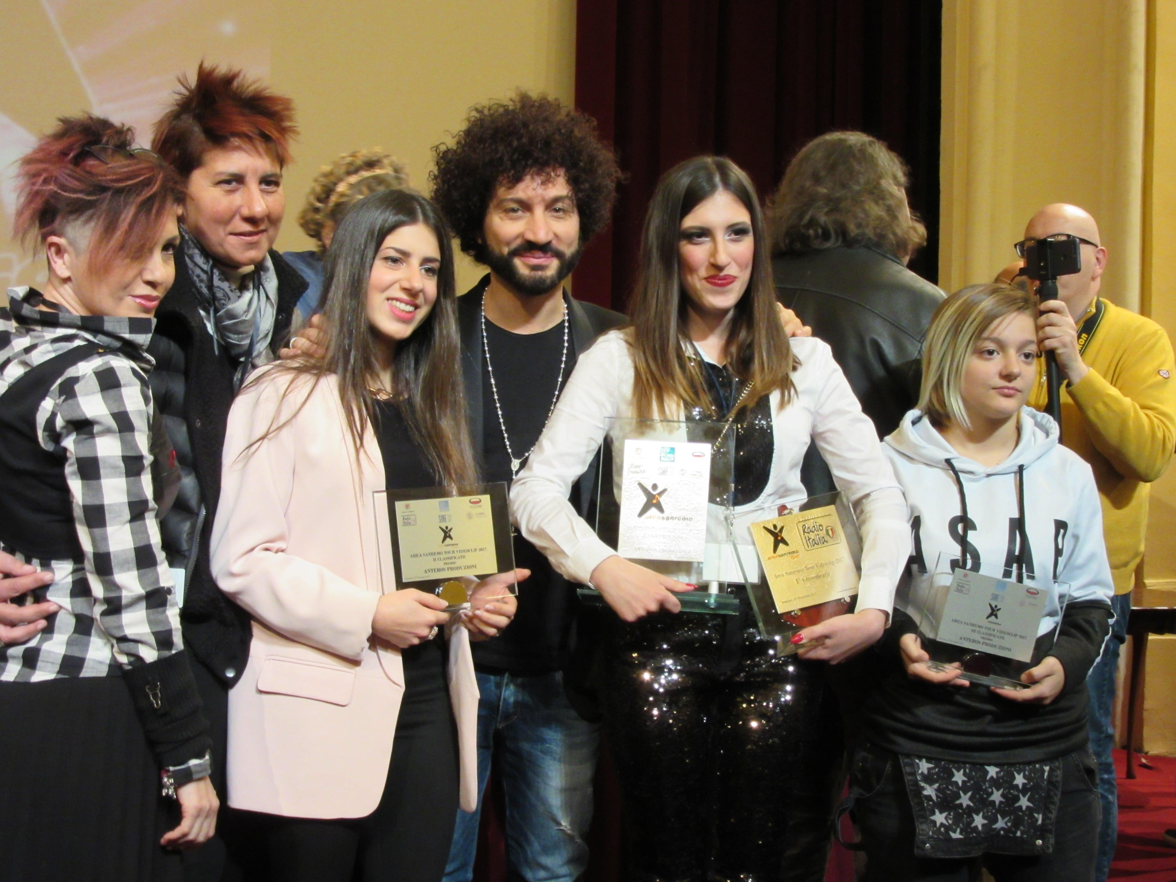 Il racconto della premiazione del concorso Area Sanremo