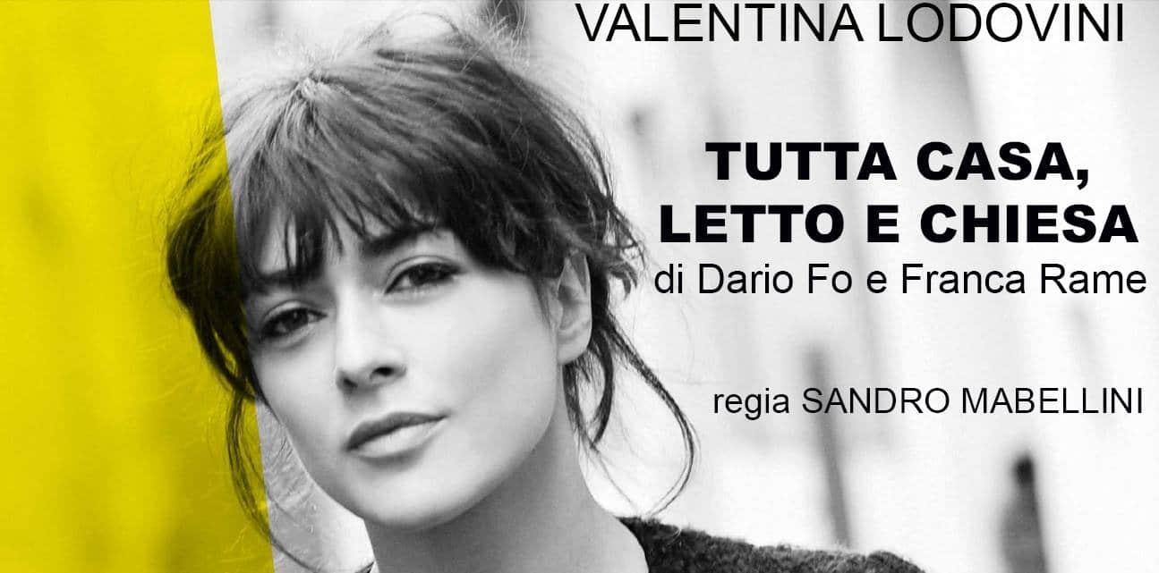 """Venerdì 26 gennaio Valentina Lodovini in """"Tutta casa, letto e chiesa"""" per Ventimiglia che spettacolo"""
