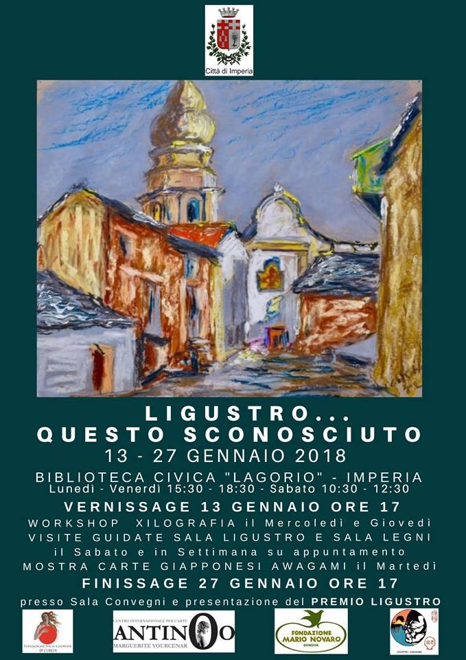 Dal 13 al 27 gennaio alla Biblioteca Lagorio di Imperia la personale dedicata a Giovanni Berio in arte Ligustro