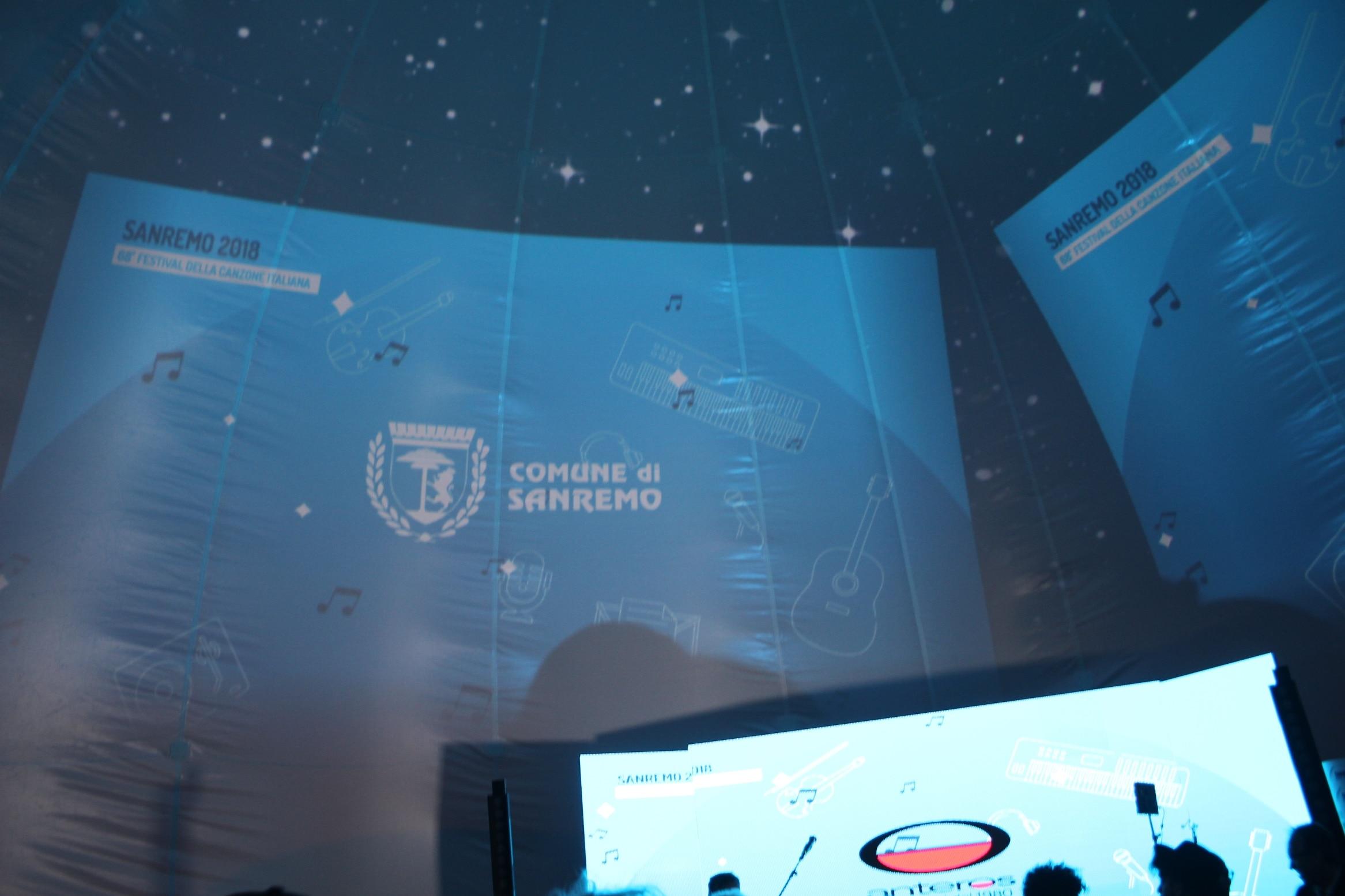 Inaugurata ieri Casa SIAE - Area Sanremo, una semisfera multimediale per gli eventi collaterali del 68esimo Festival di Sanremo