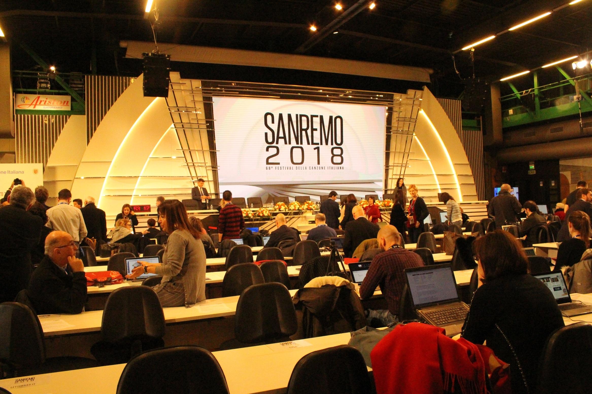 Record di presenze per stampa e informazione a Sanremo, presente anche un inviato dalla Cina