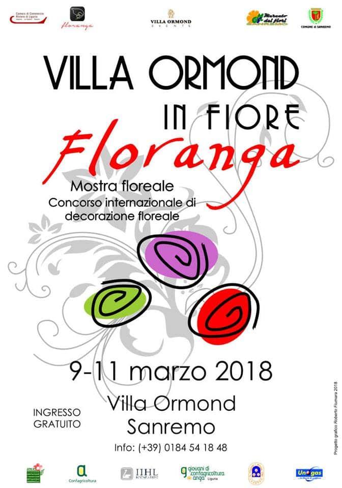 Villa Ormond in fiore, Floranga: il programma completo degli eventi collaterali aspettando Sanremo in Fiore