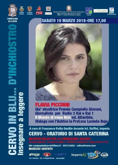 Sabato 10 marzo a Cervo Flavia Piccinni racconta Irene Brin per la rassegna Cervo in blu... d'inchiostro