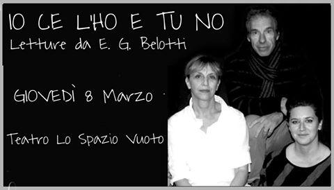 Giovedì 8 marzo una serata speciale dedicata alle donne al teatro Lo Spazio Vuoto di Imperia