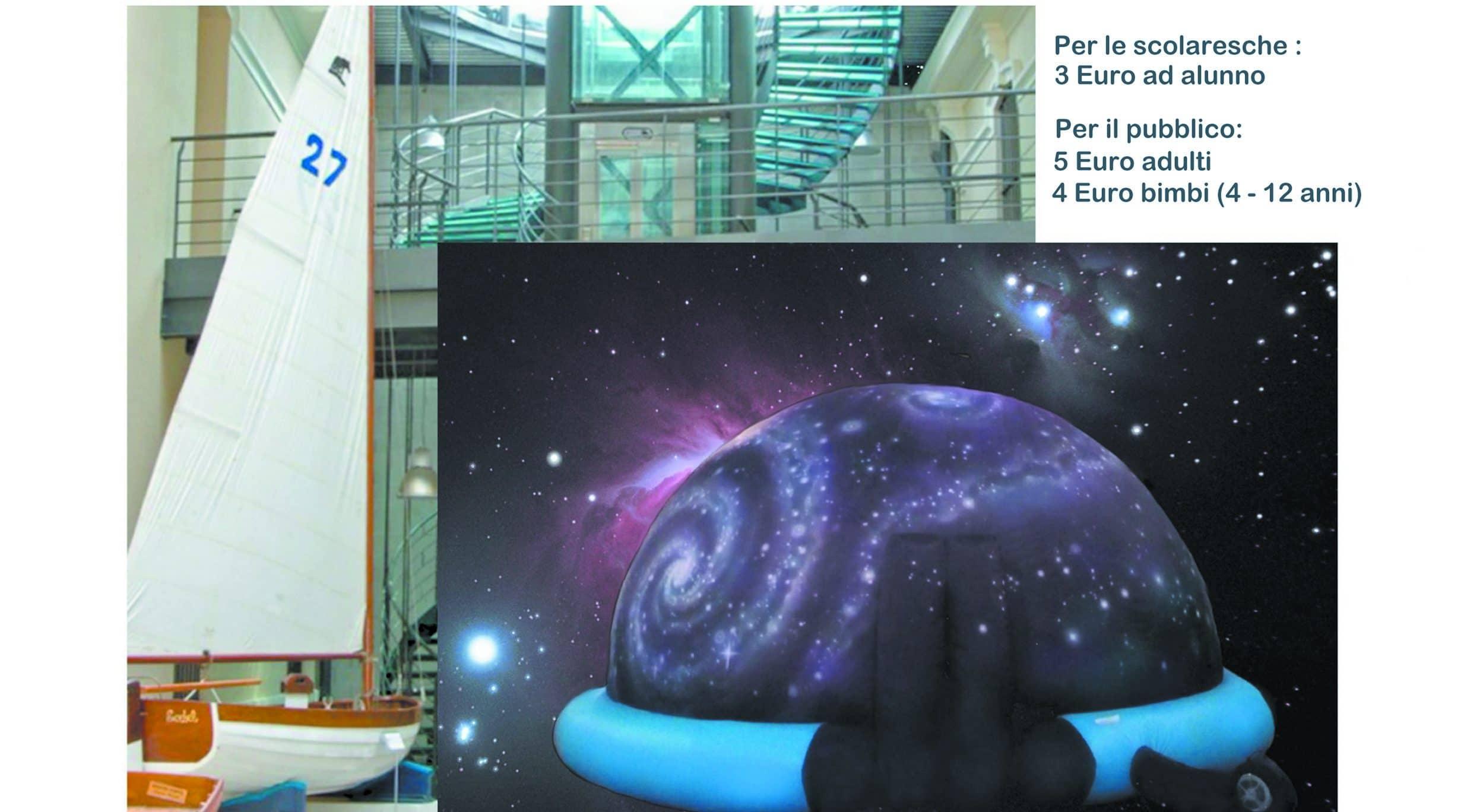 Da lunedì 12 a sabato 20 marzo alla scoperta del planetario itinerante al Museo Navale di Imperia