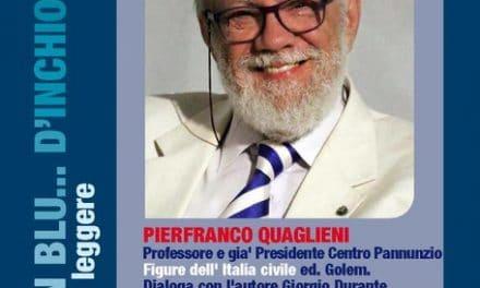 Pier Franco Quaglieni a Cervo in blu d'inchiostro